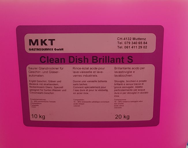 Glanzmittel Dish Brilliant S 25 Kg